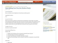 Mad-Libbing Your Way Into Modern Poetry Lesson Plan