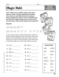 Magic Math Worksheet