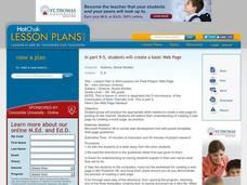 Mini-Lessons On Final Project: Web Page Lesson Plan