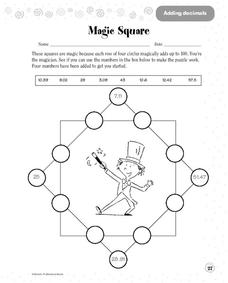 Magic Square Worksheet