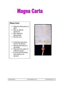 Magna Carta Worksheet