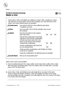 Make a List Worksheet