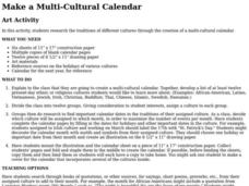 Make a Multicultural Calendar Lesson Plan
