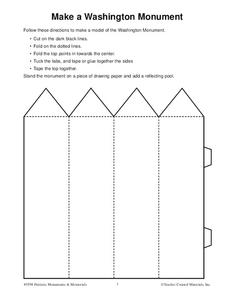 Make a Washington Monument Worksheet