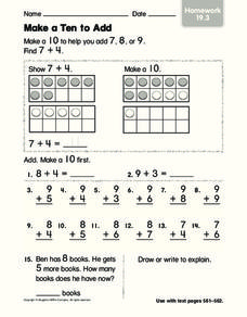 Make A Ten To Add Worksheet