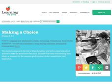 Making a Choice Lesson Plan