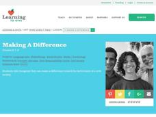 Making a Difference Lesson Plan