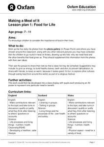 Making a Meal of It Lesson Plan