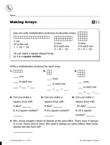 Making Arrays Worksheet