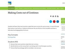 Making Cents out of Centimes Lesson Plan