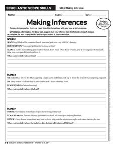 making inferences worksheet for 6th 9th grade lesson planet. Black Bedroom Furniture Sets. Home Design Ideas
