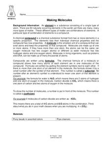 Making Molecules Lesson Plan