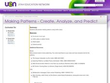 Making Patterns - Create, Analyze, and Predict Lesson Plan