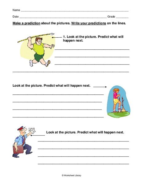 Making Predictions Worksheet For 2nd 5th Grade Lesson
