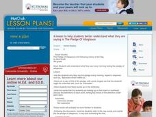Pledge of Allegiance Lesson Plan