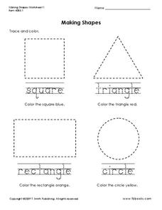 Making Shapes Worksheet