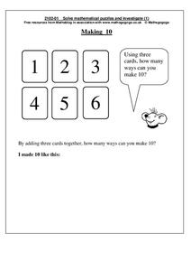 Making Ten Worksheet