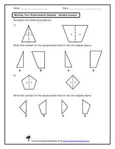Making Two-Dimensional Shapes Worksheet