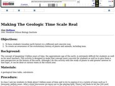 Making The Geologic Time Scale Real Lesson Plan