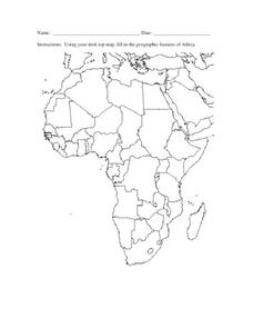Map of Africa Worksheet