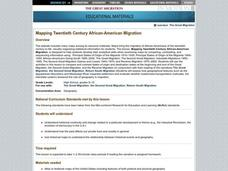 Mapping Twentieth Century African-American Migration Lesson Plan