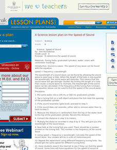 Speed of Sound Lesson Plan