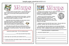 Maps Worksheet