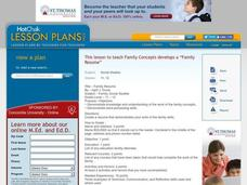 Family Resume Lesson Plan
