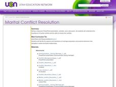 Marital Conflict Resolution Lesson Plan
