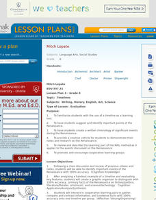 Timelines Lesson Plan