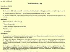 Martin Luther King Lesson Plan