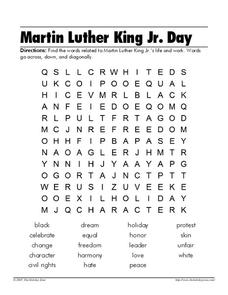 Martin Luther King Jr. Day Worksheet