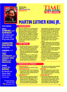 Martin Luther King Jr. Lesson Plan