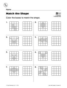 Match the Shape Worksheet