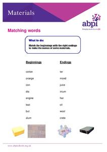 Matching Words Worksheet