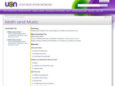 Math and Music Lesson Plan
