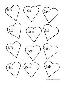 Math Hearts Worksheet