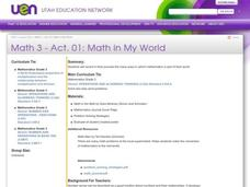 Math in My World Lesson Plan