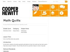 Math Quilts Lesson Plan