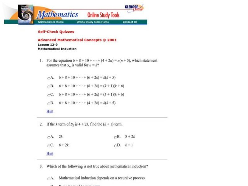 Mathematical Induction Interactive