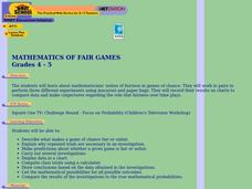Mathematics of Fair Games Lesson Plan