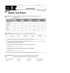 Matter and Atoms Worksheet