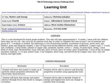 Matter and Energy Lesson Plan