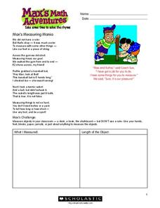 Max's Math Adventures Worksheet