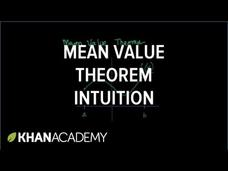 Mean Value Theorem Video