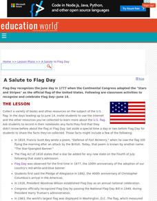 A Salute to Flag Day  Lesson Plan