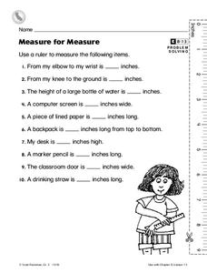 Measure for Measure Worksheet