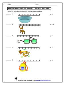 measure the length word problems worksheet for 2nd 4th. Black Bedroom Furniture Sets. Home Design Ideas