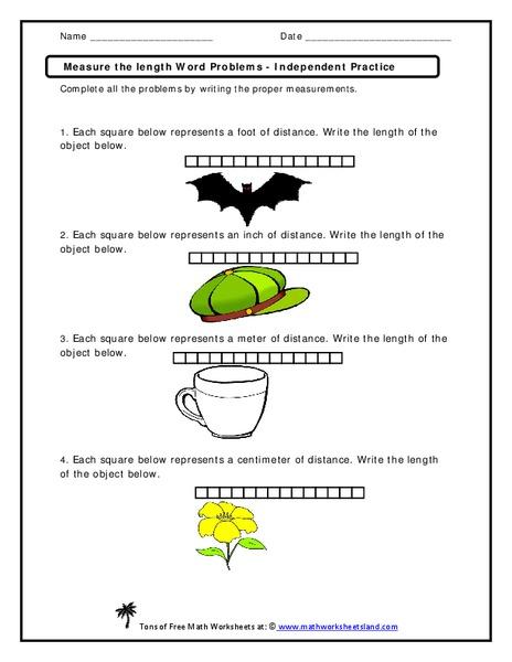measure the length word problems worksheet for 2nd 3rd grade lesson planet. Black Bedroom Furniture Sets. Home Design Ideas
