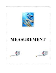 Measurement Lesson Plan